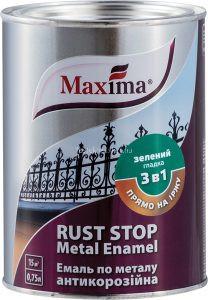 Maxima Rust Rozsda Stop zománcfesték 3in1 fekete 0,75l