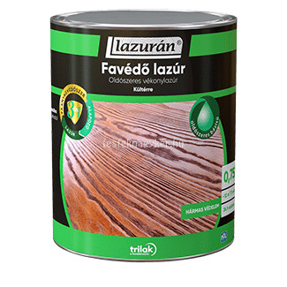 Lazurán favédő lazúr 3in1 oldószeres teak 0,75L