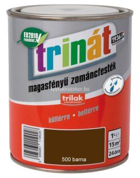 Trinát magasfényű zománcfesték 500 barna 1L