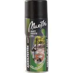 Maestro Akril matt fekete 9004 400ml