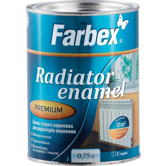 Farbex aqua radiátorzománc fehér 0,75l