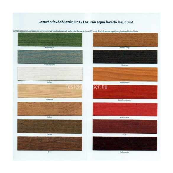 Lazurán aqua favédő lazúr 3in1 fehér 0,75l