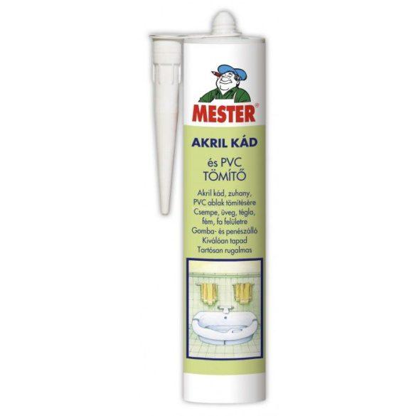 MESTER Akril kád és PVC tömítő átlátszó 310ml