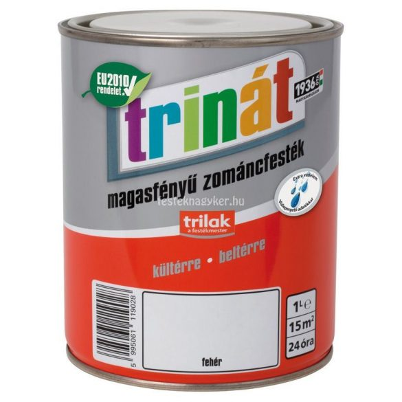 Trinát magasfényű zománcfesték 100 fehér 2,5L