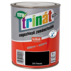 Trinát magasfényű zománcfesték 300 fekete 0,5 L