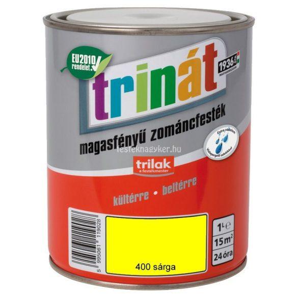 Trinát magasfényű zománcfesték 400 sárga 0,25 L