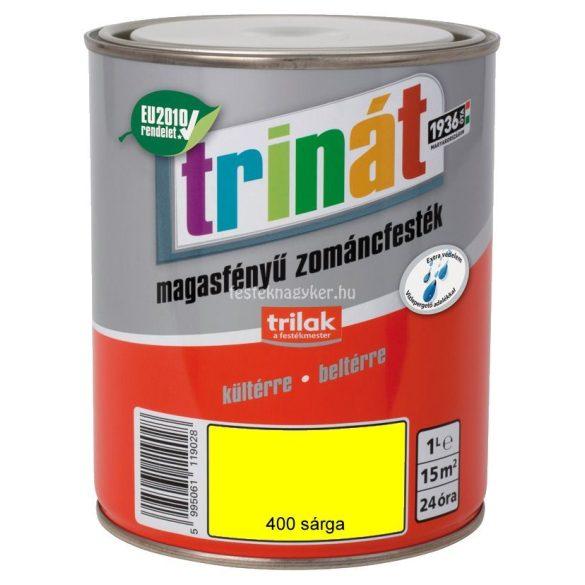 Trinát magasfényű zománcfesték 400 sárga 0,5 L