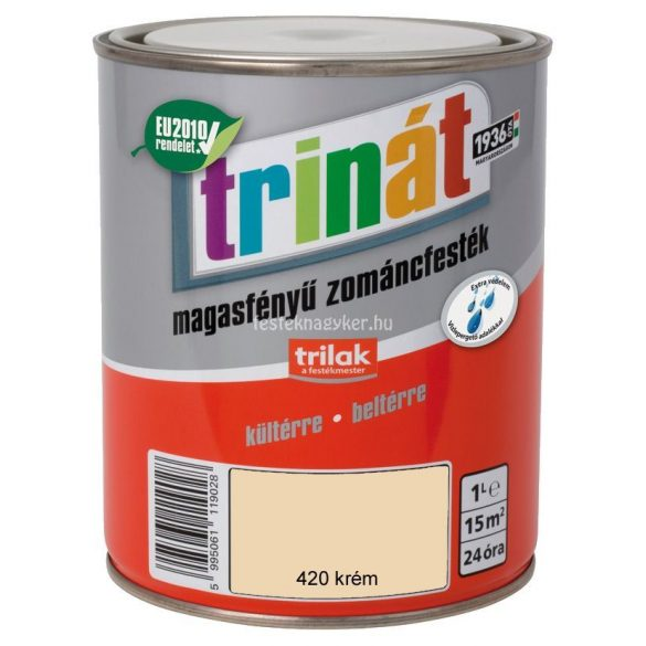 Trinát magasfényű zománcfesték 420 krém 1L