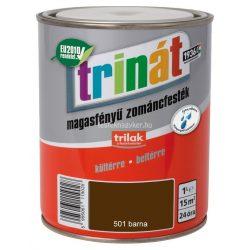 Trinát magasfényű zománcfesték 501 barna 1L