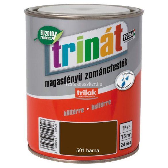 Trinát magasfényű zománcfesték 501 barna 5L