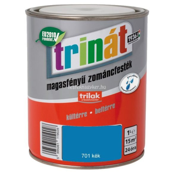 Trinát magasfényű zománcfesték 701 kék 0,5L