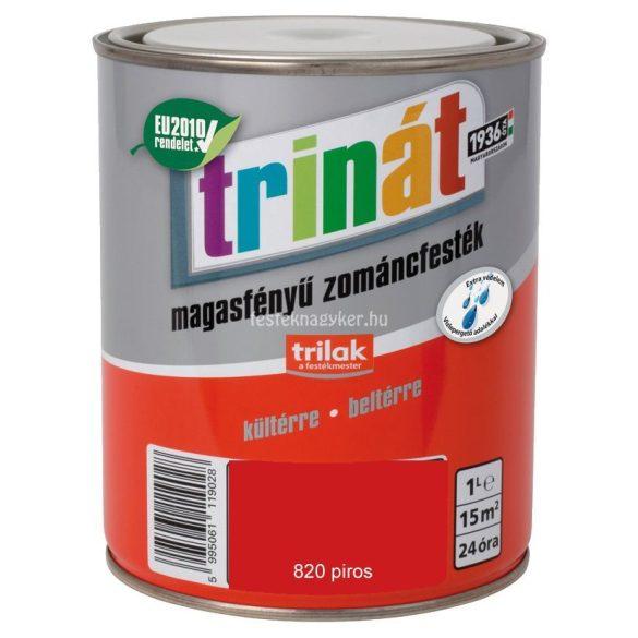 Trinát magasfényű zománcfesték 820 piros 0,5L