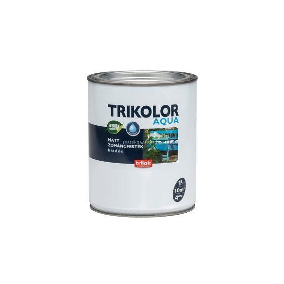 Trikolor aqua matt zománcfesték szürke 1l