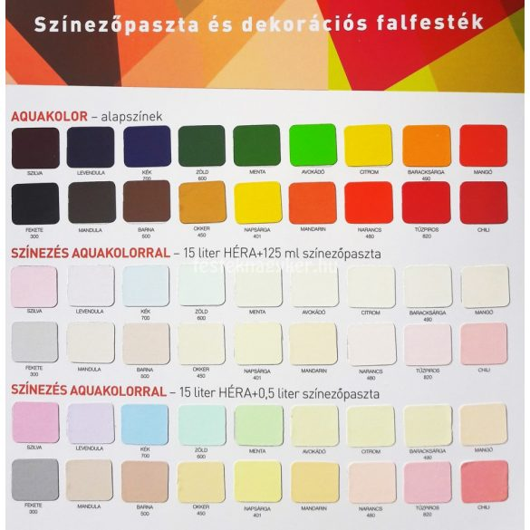 Héra (Aquakolor) színezőpaszta 500 barna 0,5l