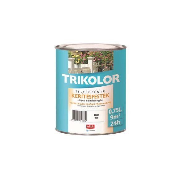 Trikolor selyemfényű kerítésfesték  babérzöld 0,75l